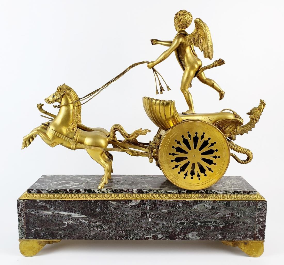 Magnificent 19th C. Bronze & Marble Clock - 8