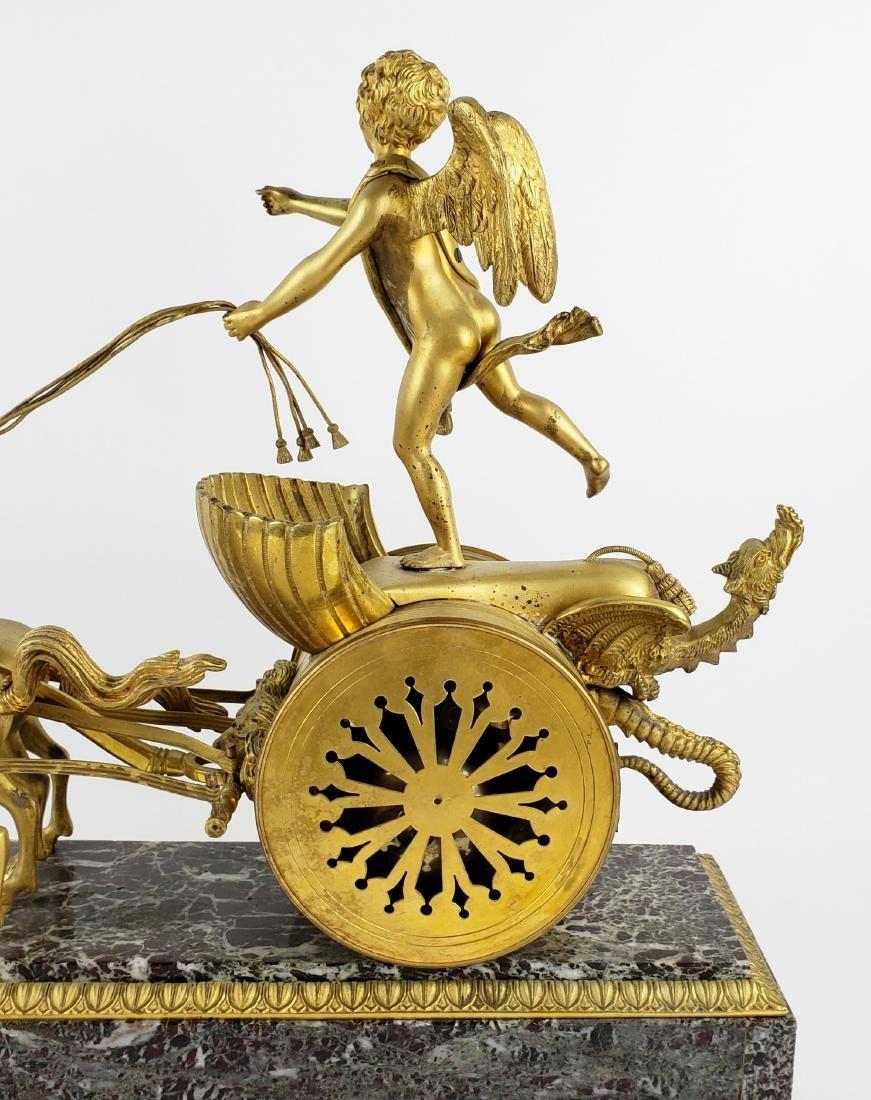 Magnificent 19th C. Bronze & Marble Clock - 9
