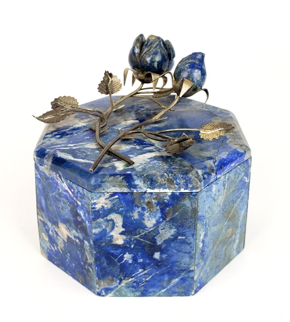 Lapiz Azuli & Silver Box