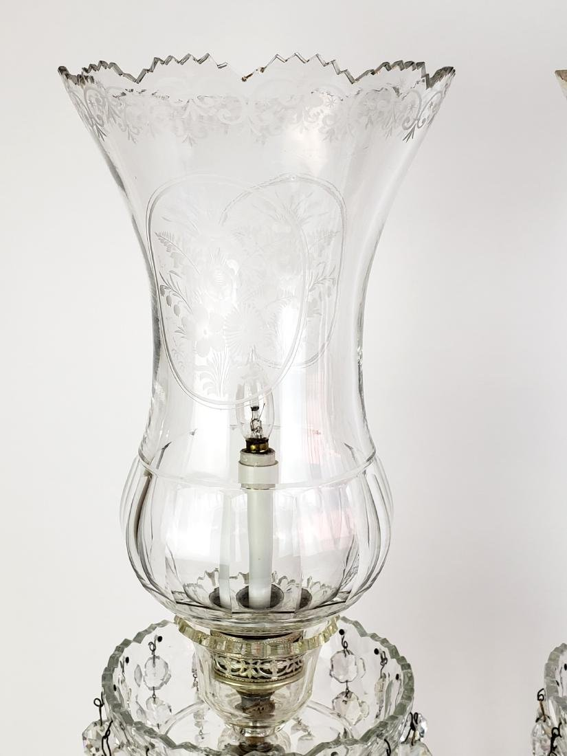 Pair of Large Baccarat Style Crystal Lusters - 2