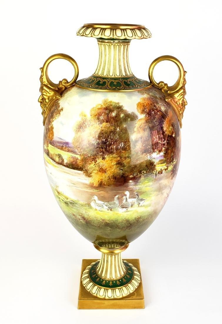 Large Paris Porcelain Handled Vase