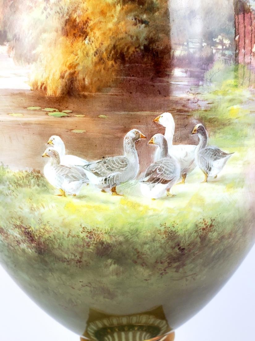 Large Paris Porcelain Handled Vase - 4