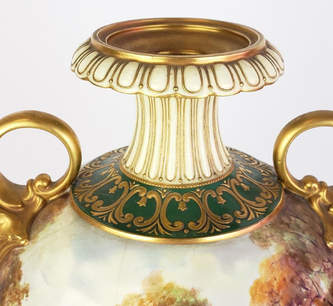Large Paris Porcelain Handled Vase - 5