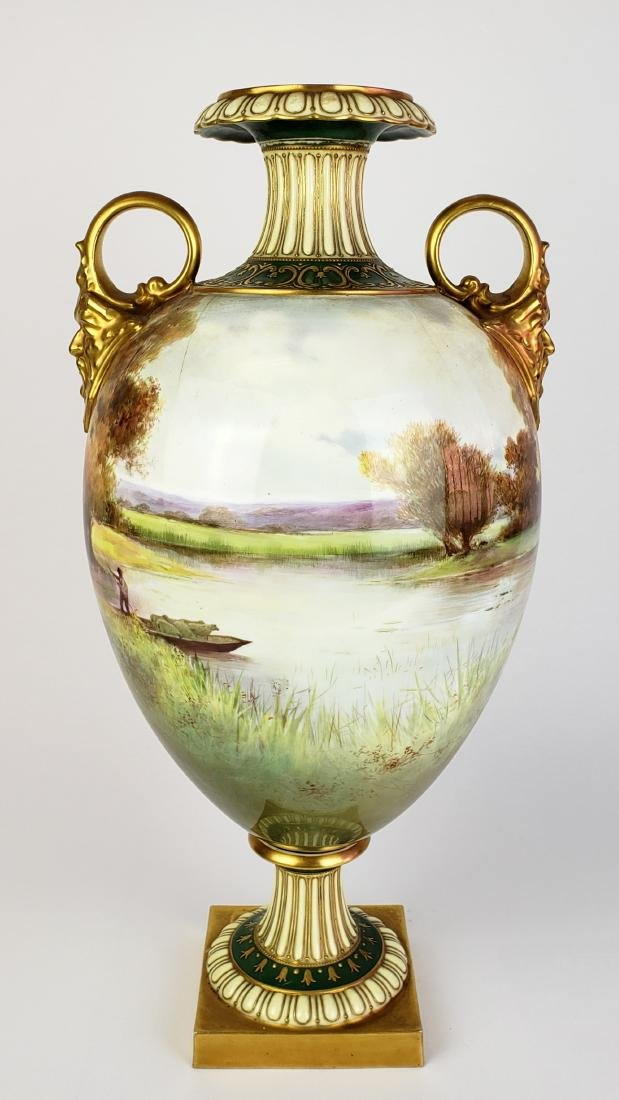 Large Paris Porcelain Handled Vase - 8