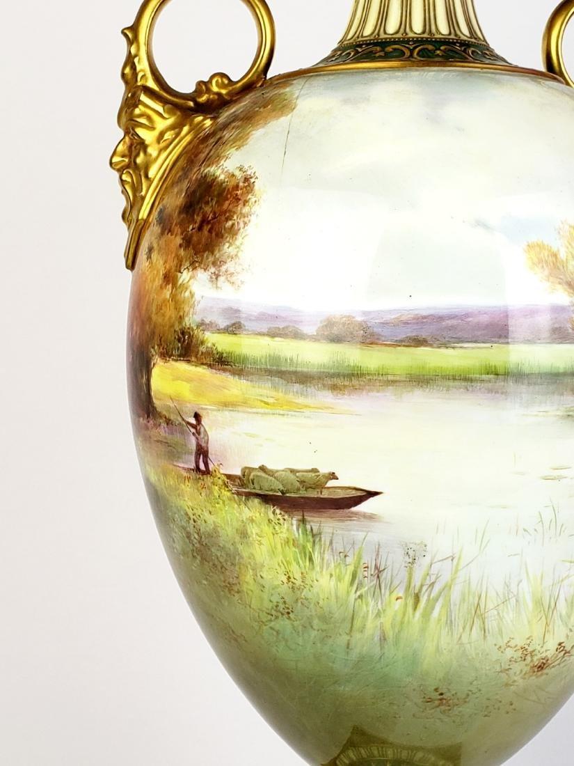 Large Paris Porcelain Handled Vase - 9