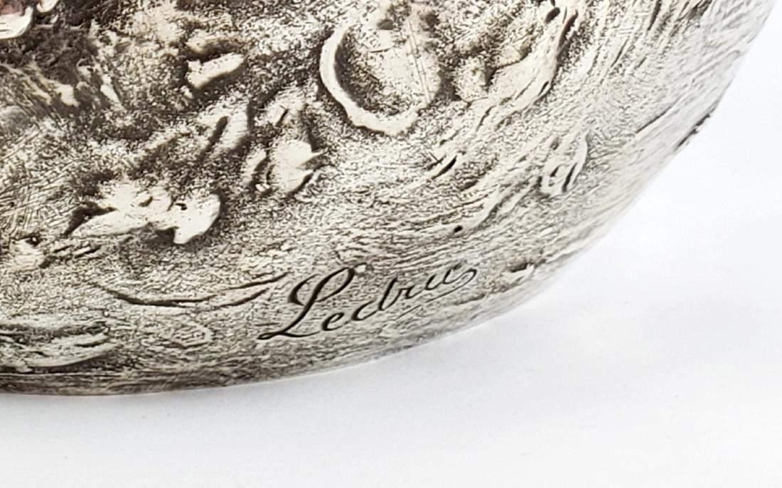 Large Ledru Signed 19th C. Silverpted Figural - 3