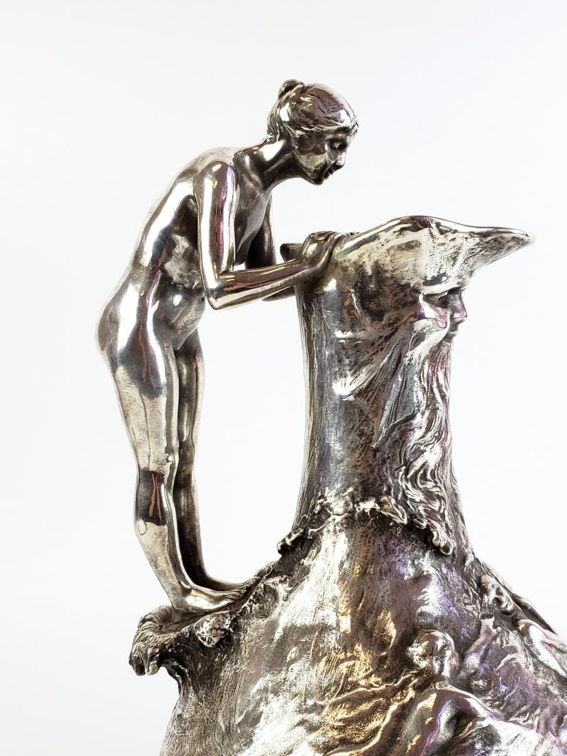 Large Ledru Signed 19th C. Silverpted Figural - 4