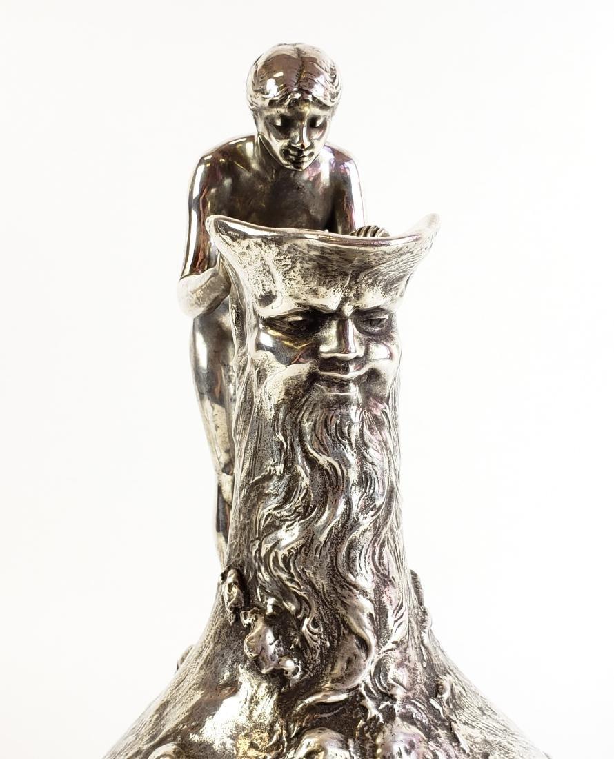 Large Ledru Signed 19th C. Silverpted Figural - 5