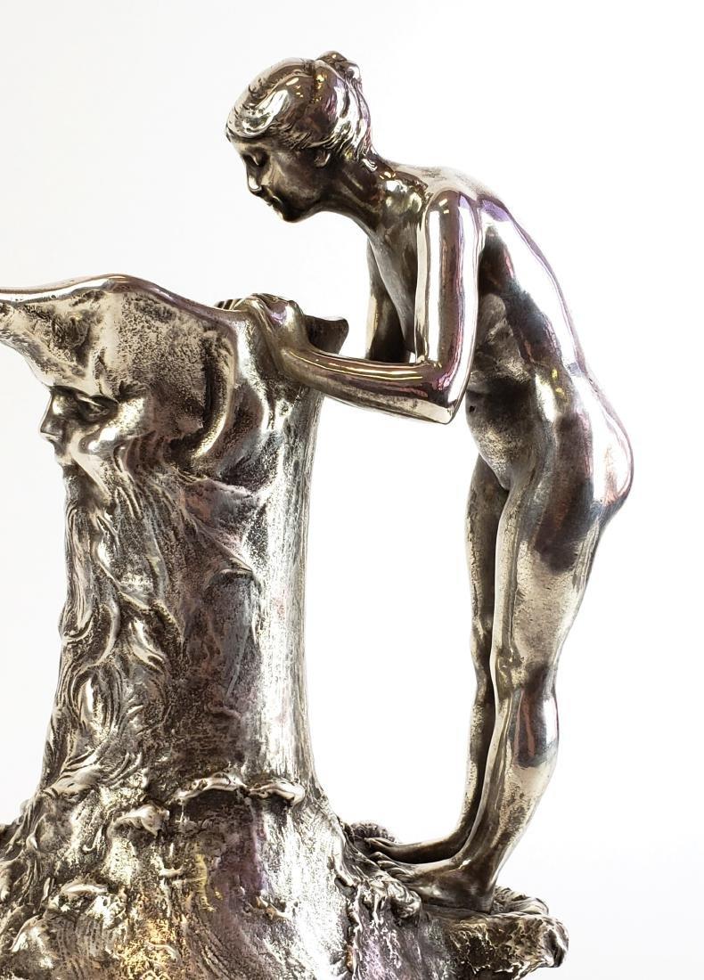 Large Ledru Signed 19th C. Silverpted Figural - 8