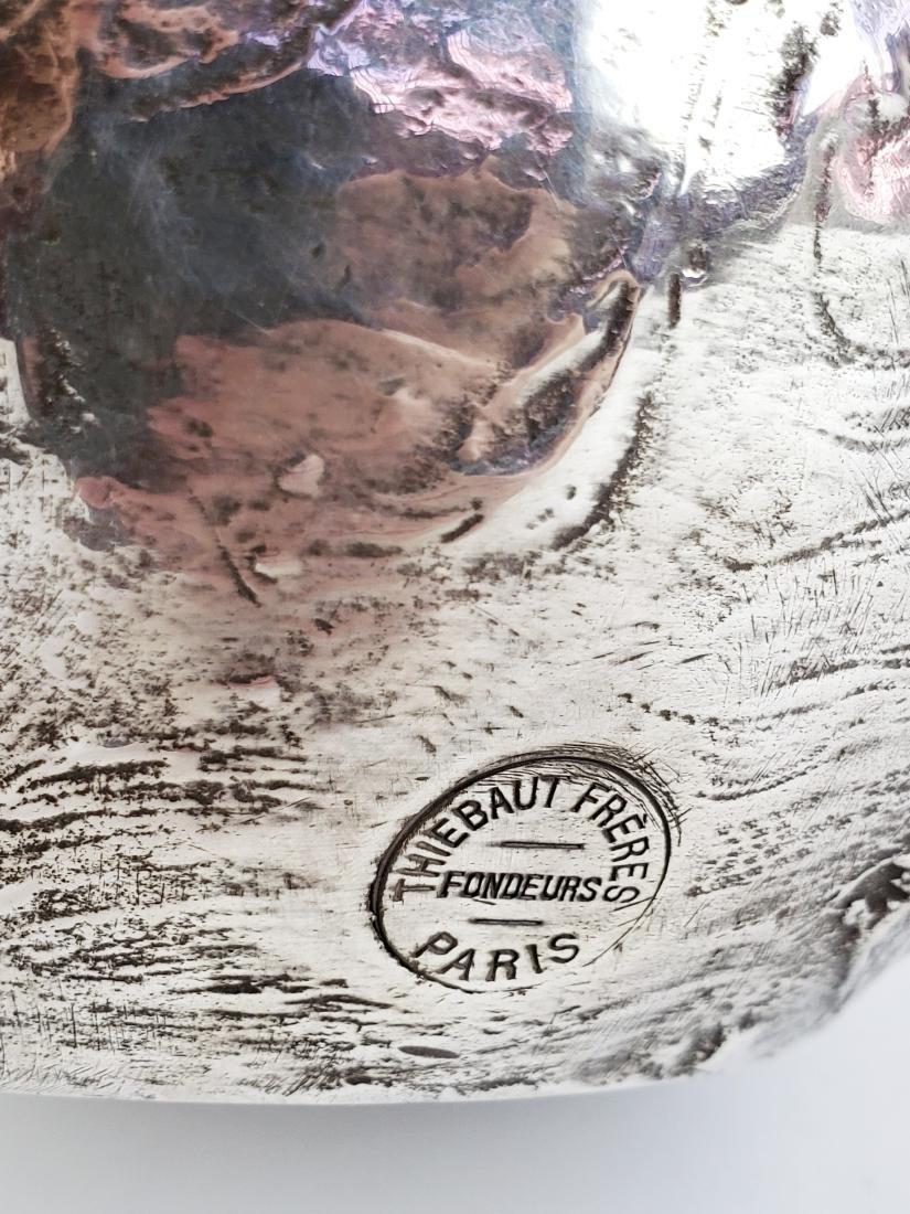 Large Ledru Signed 19th C. Silverpted Figural - 9