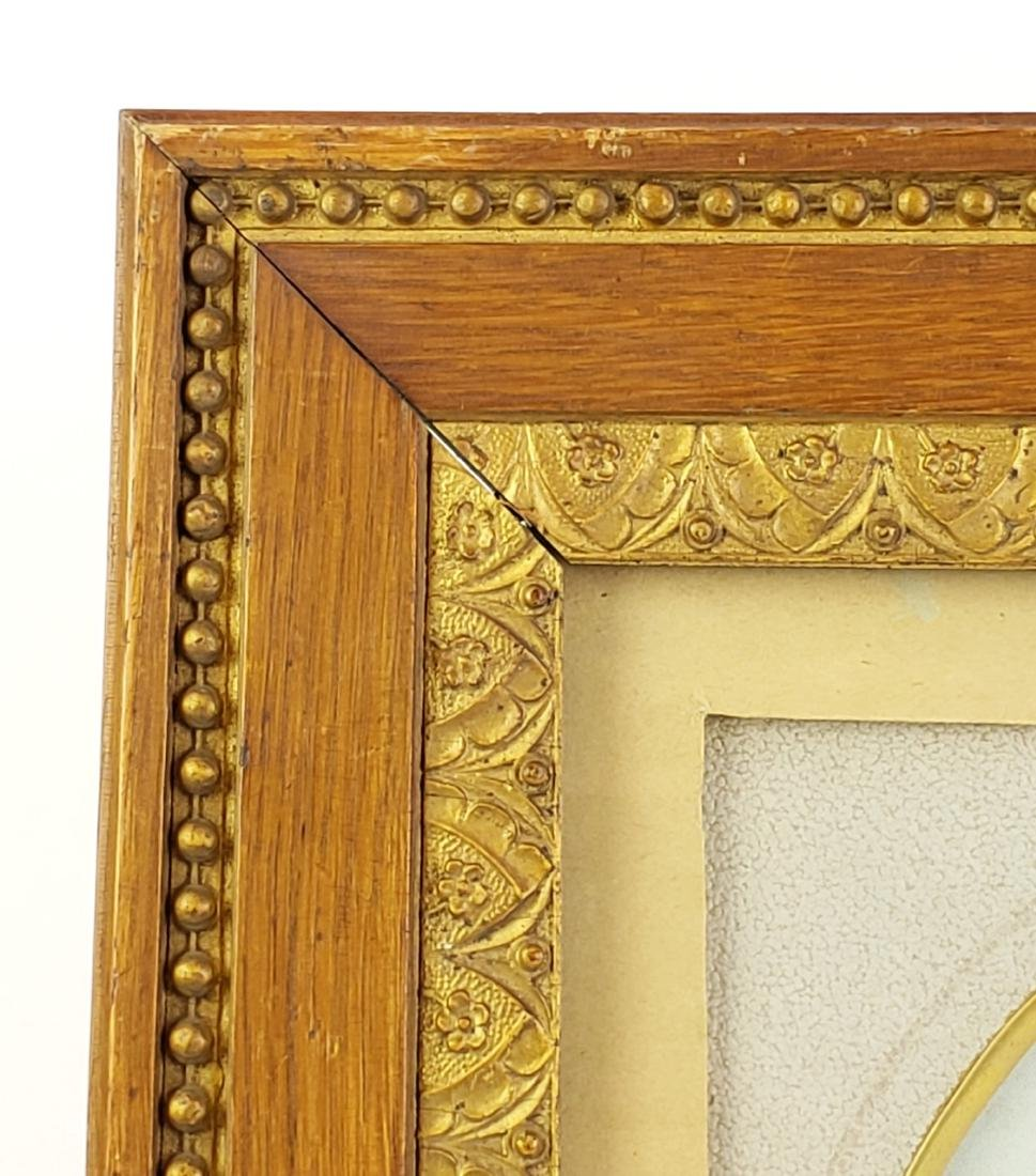 19th C. Orientalist Oval Painting of Woman Framed - 3