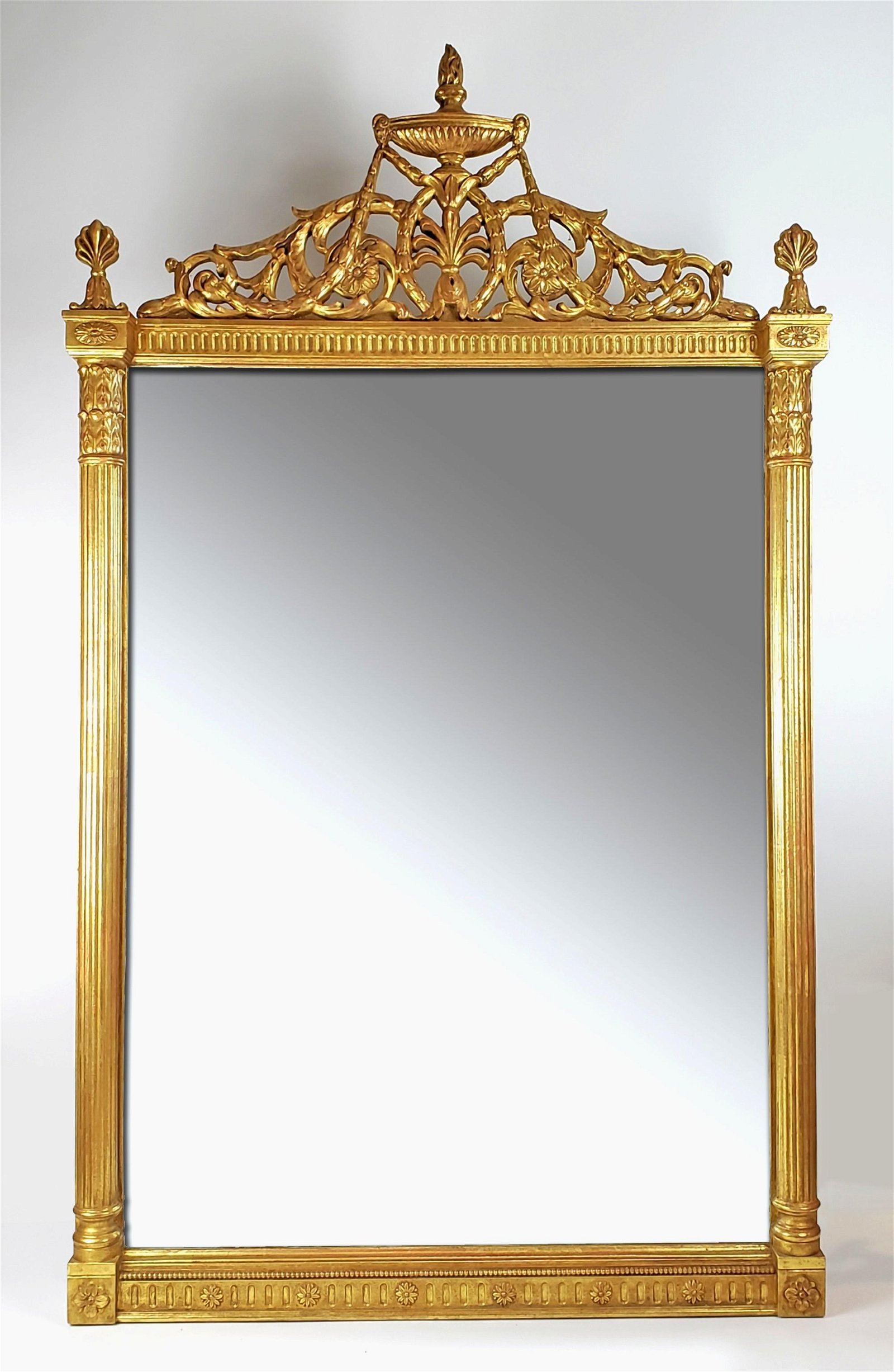 Magnificent Large 19th C. French Gold Leaf Handcarved