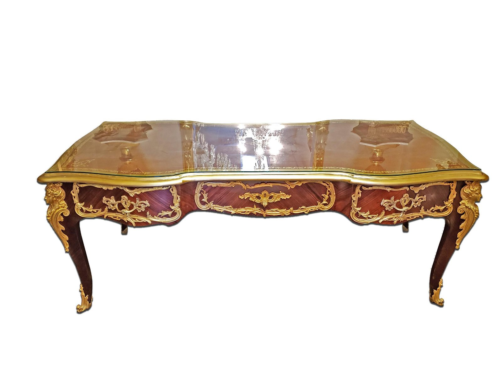 Magnificent F. Linke Kingwood & Gilt Bronze Desk, 19th