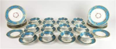 A 38 Pc. Minton Jewelled Porcelain Dish Set