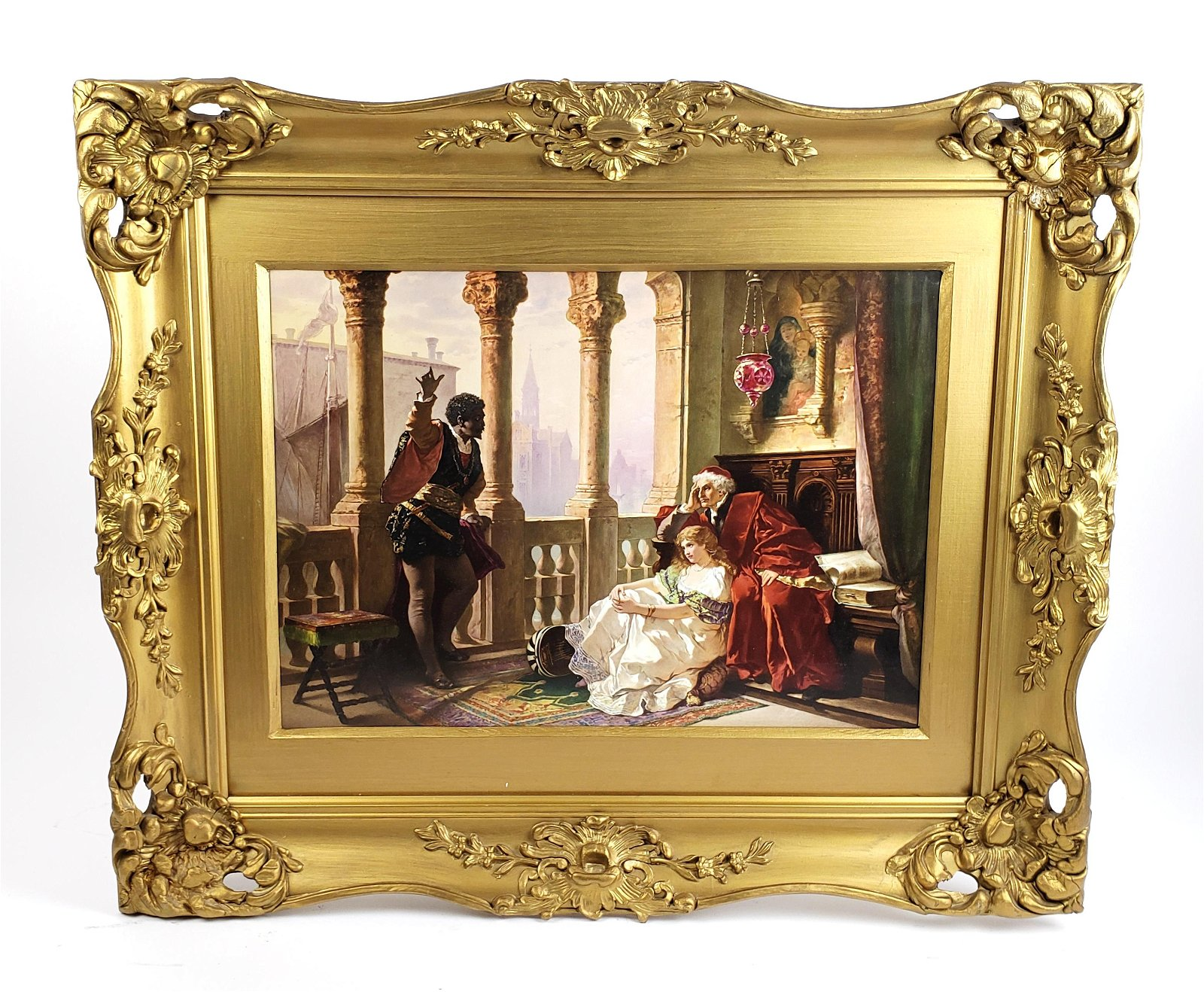A Large 19th C. KPM Porcelain Plaque in Giltwood Frame