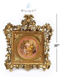 Monumental 19th C. Royal Vienna Framed Plate