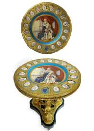 Magnificent 19th C. French Ormolu-Mounted Sevres