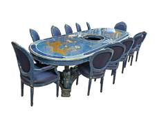 Magnificent Large Custom Italian Hand Painted Dining