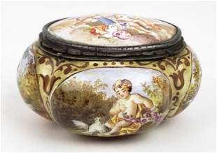 19th C. Viennese Enamel on Silver Box