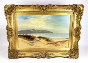 "19th C. Oil on Canvas ""Ocean Scene"" Signed"