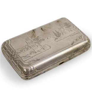 A Russian 84 Silver Cigarette Box