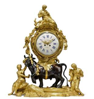 A Large 19th C. French Louis XV Style Gilt & Patinated