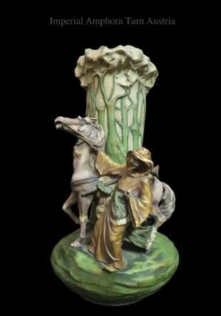 Large Imperial Amphora Austria Orientalist on Vase