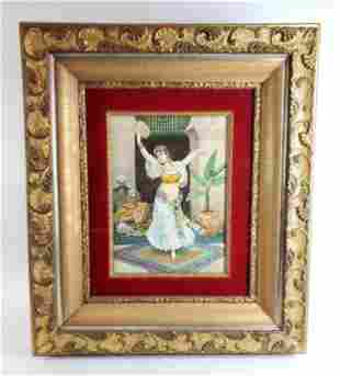 Fabio Fabbi (1861-1946) Orientalist Watercolor Painting