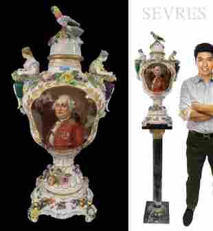 Large White Sèvres Figural Porcelain King Louis XVI