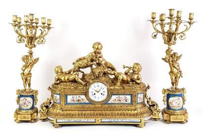 A Monumental 19th C. French Sevres Tiffany & Co. Gilt