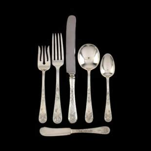 "72 Pc. Gorham ""Somerset"" Sterling Silver Flatware Set"