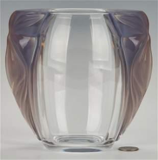 Lalique Clematites Crystal Vase