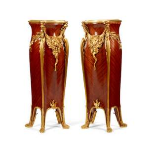 Pair of Large 19th C. Louis VV Style Gilt Bronze