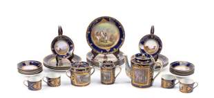 19th C. Sevres Napoleonic Gilt & Polychromed Porcelain