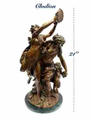 19th C. French Bronze Sculpture Bacchantes Dancing