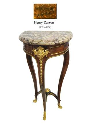 19th C. French Henry Dasson Ormolu-Mounted Console