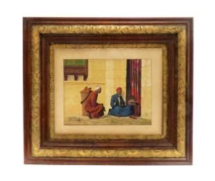 Giulio Rosati (1857-1917) Watercolor Orientalist