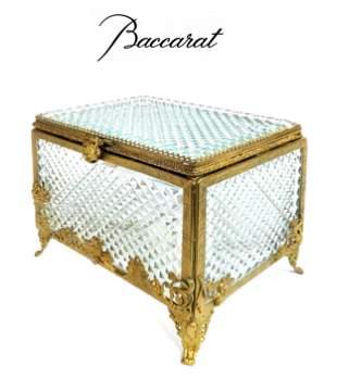 Baccarat Cut Crystal & Bronze Mounted Box