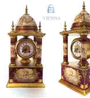 Large 19th C. Royal Vienna Austrian Clock