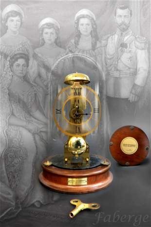 Faberge Imperial Skeleton Clock