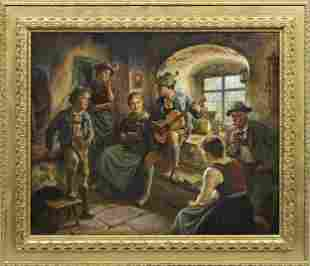 "Maximilian Wachsmuth (German 1859-1912)""Farm Guitar"