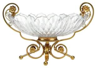 French Baccarat Crystal and Bronze Centerpiece