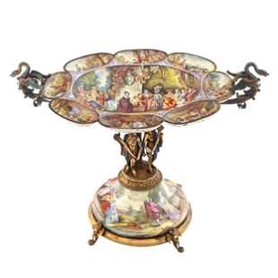 Magnificent 19th C. Austrian Viennese Enamel Figural