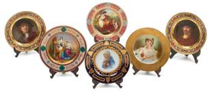 A Group of Six 19th C. Royal Vienna Porcelain Plates