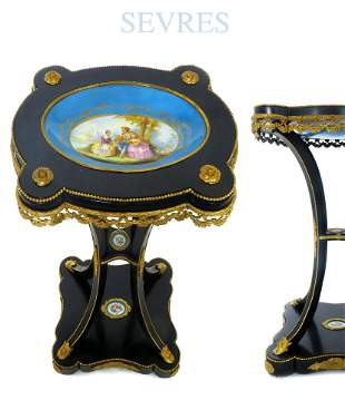 19th C French Sevres Side Table