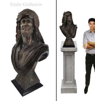 Large After Emile Guillemin Orientalist Statue