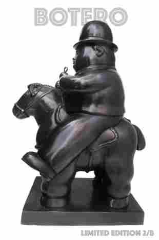 Fernando Botero Large Bronze Sculpture Horse Rider