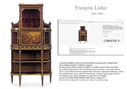 19th C. Francois Linke, a French Ormolu & Vernis Martin