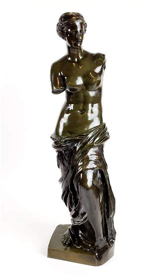19th C. Bronze Figure of Man Signed Stadelli