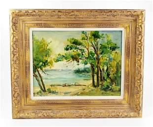 "Ernest Graham (1868-1936) ""Star Island"" Oil on Board"